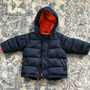Toddler baby warm winter puffer coat